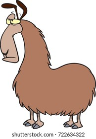 cartoon brown llama