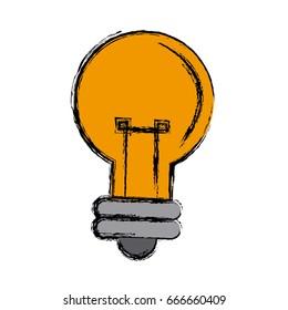 cartoon bulb light creativity illumination