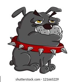 Cartoon Bulldog (cartoon dog breed - vector)