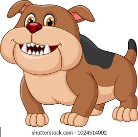 Cartoon bulldog isolated on white background