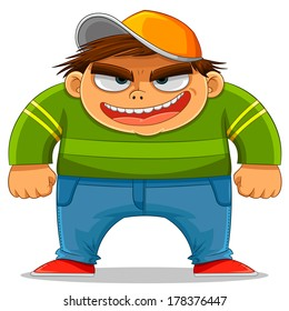 cartoon bully smiling maliciously