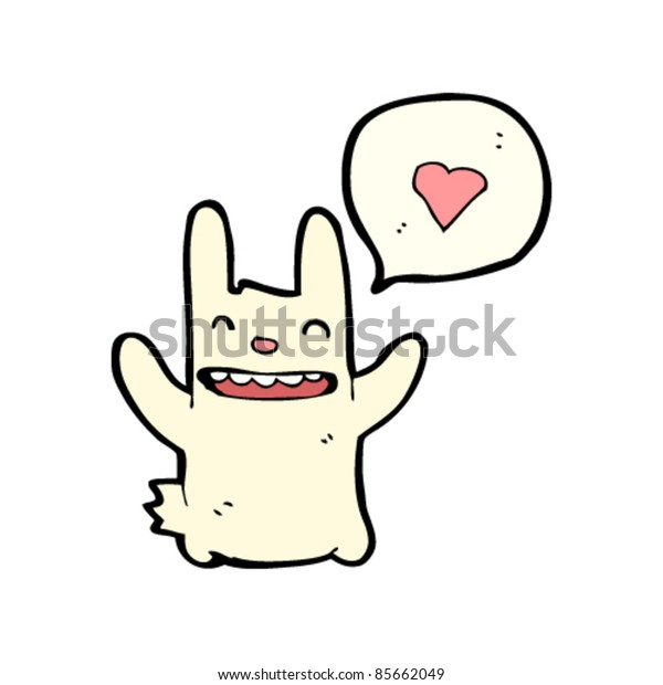 cartoon bunny love