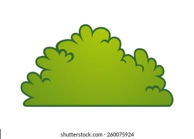 cartoon bush element vector