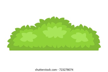 Cartoon bush on white background, vector illustration.