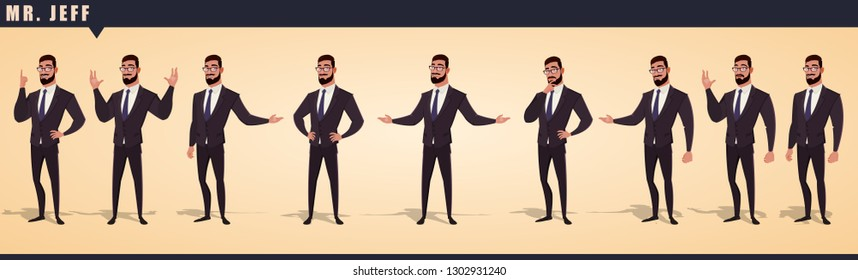 Cartoon Businessman Character Pack