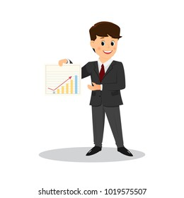 Cartoon businessman.Vector illustration. Isolated on white background