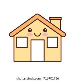 cartoon cabin house chimney comic