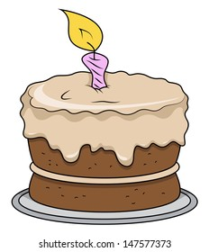 Cartoon Cake - Vector Illustrations