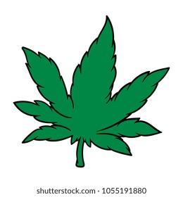 Cartoon Cannabis Leaf