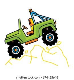 cartoon car baby jeep vector