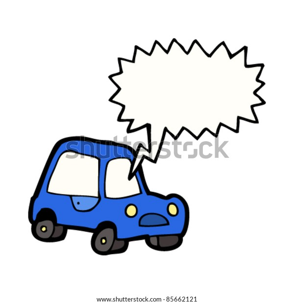 cartoon car with shouting driver