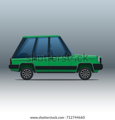 Cartoon Car Suv Isolated Stock Vector Royalty Free 712744660