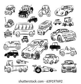 Cartoon car, vector illustration.