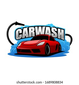 cartoon car wash logo, Perfect logo for business related to automotive industry