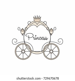 Cartoon carriage in details, princess vehicle