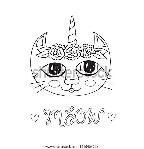 - Cartoon Cat Coloring Book Pages Sweet Stock Vector (Royalty Free) 1415404316