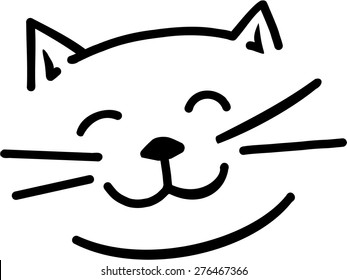 cat face images stock photos vectors shutterstock rh shutterstock com cat face clipart black and white free cat face clipart free