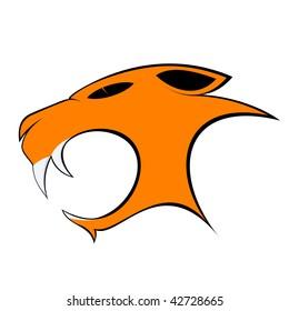 cartoon cat head,