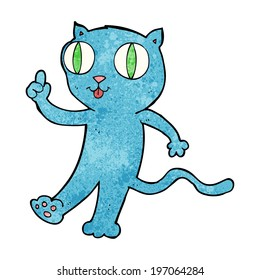 cartoon cat with idea