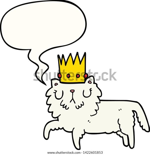Cartoon Cat Wearing Crown Speech Bubble Stock Vector Royalty Free 1422601853 Juvenilia, released 16 september 2018 1. shutterstock