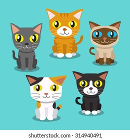 Cartoon cats standing