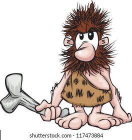 A cartoon caveman