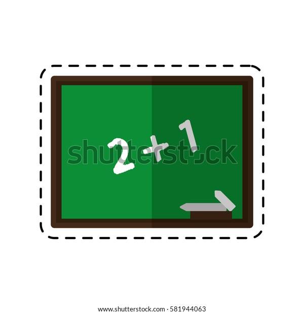 cartoon chalkboard class school chalk