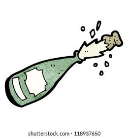 cartoon champagne bottle