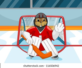 Cartoon Ice Character Hockey Player Images Stock Photos Vectors Shutterstock