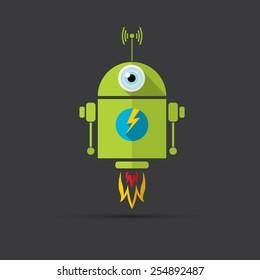 Ilustraciones, imágenes y vectores de stock sobre Android Banner