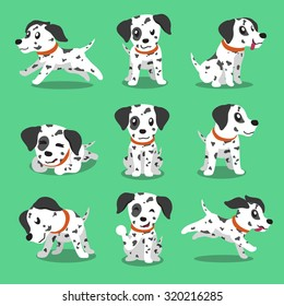 Cartoon character dalmatian dog poses