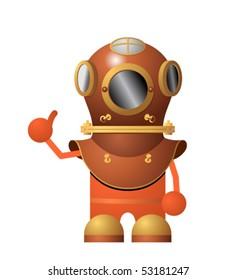 Cartoon character diver