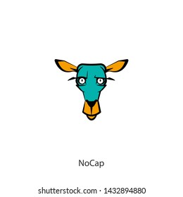 Cartoon character of a forest animal. The head of a funny cute deer. Emotional grimaces. Vector illustration. Honestly. Be honest. But without horns.