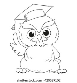 Funny Cartoon Character Owl Surprised Owl Stock Vector (Royalty Free ...