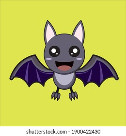 Cartoon character for halloween festival. Spooky character. Zombies. Bat