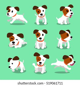 Cartoon character jack russell terrier dog poses