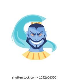 Cartoon character Jinn. The Arabian spirit. Vector illustration