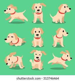 Cartoon character labrador dog poses