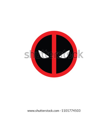 Cartoon character mask icon