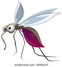 Cartoon Character Mosquito