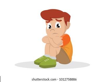 Boy Sad Cartoon Hd Stock Images Shutterstock