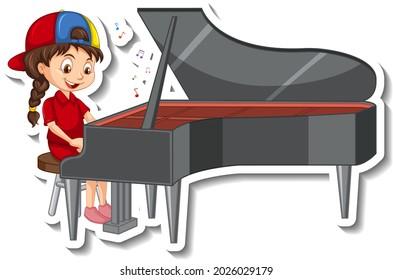 ピアノ 少女 のイラスト素材 画像 ベクター画像 Shutterstock
