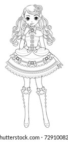 Cartoon character,Girl in gothic/lolita clothing