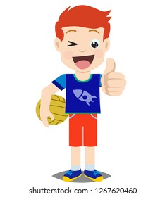 cartoon characters of boys with funny expressions, in vector illustration eps.10