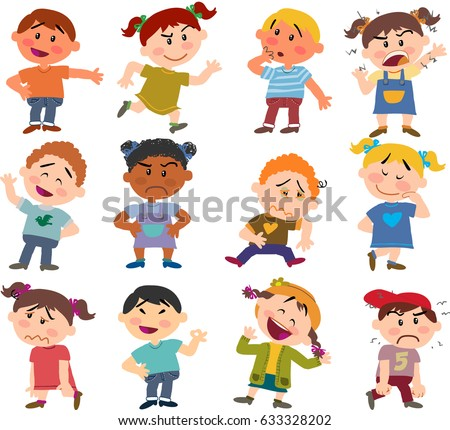 cartoon characters boys girls set different のベクター画像素材