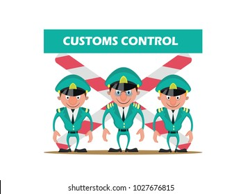 Cartoon characters customs control
