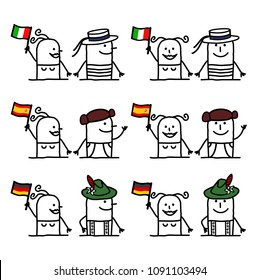 Cartoon Characters Set 2 - Countries and Tradition