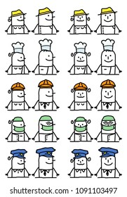 Cartoon Characters Set - Jobs and Occupations
