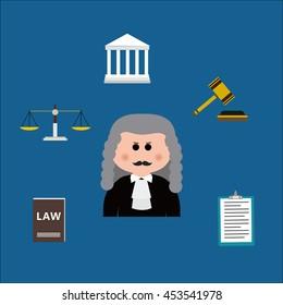 Cartoon characters-judge