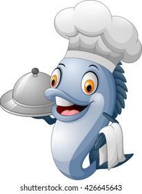 Cartoon chef fish